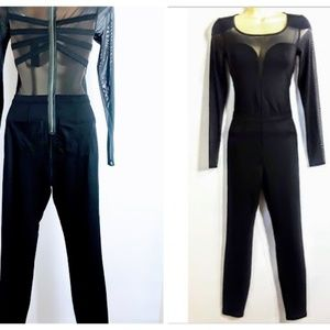 Guess Womens 1 Piece Jumpsuit Catwoman NWT Black S